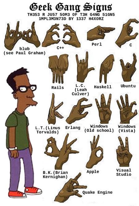 Zeichensprache für Geeks