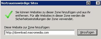 Vertrauenswürdige Site im Internet Explorer hinzufügen