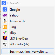 Firefox Suchanbieter