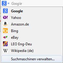Firefox Suchanbieter