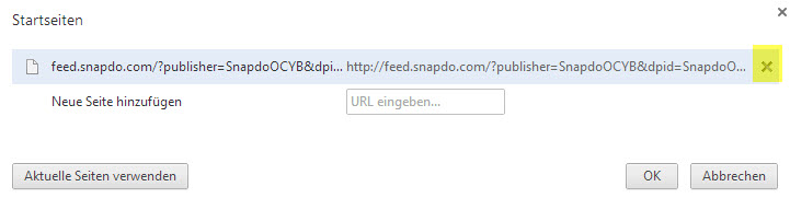 Snapdo aus Chrome entfernen