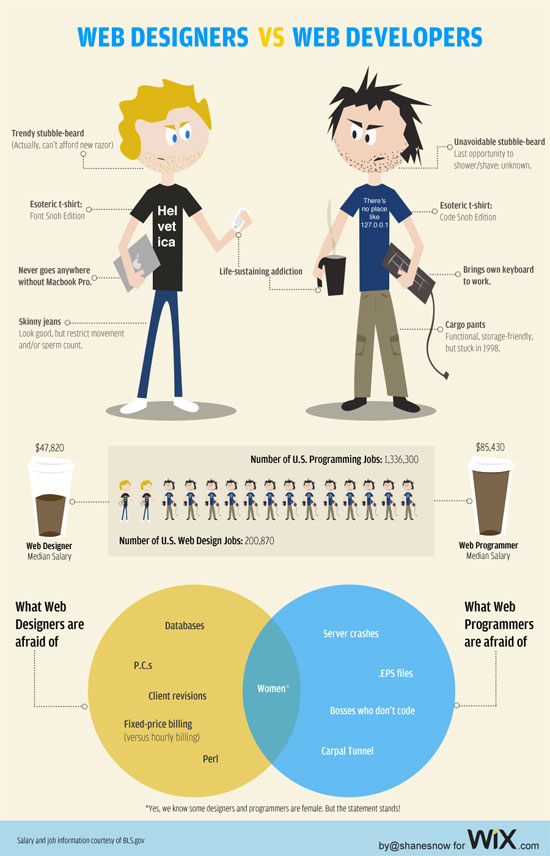 Info Web Designers VS Web Developer