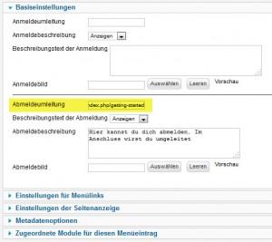 Joomla 2.5.16 - Logout mit Umleitung