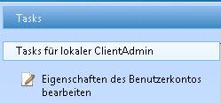 SBS2011 Eigenschaften Benutzerkonto