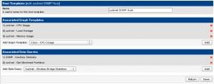 Cacti - Host Templates - ucd/net SNMP Liste