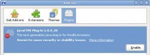 Iceweasel Add-On Java Version