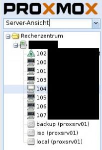 Proxmox 3 - Serveransicht