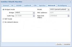 Proxmox 3 - KVM - Netzwerk