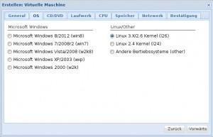 Proxmox 3 - KVM - OS