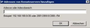 SBS2011 - Empfangsconnector - Remoteadresse