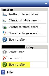 SBS2011 - Empfangsconnector konfigurieren
