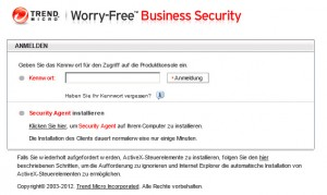Trend Micro - Worry-Free Business Login