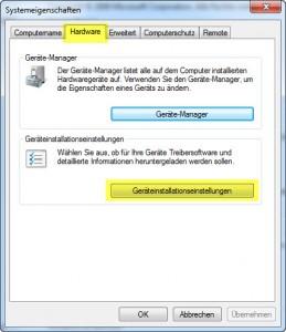 Windows 7 - Geräteeinstellungen