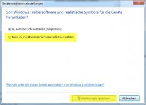 Windows 7 - Geräteeinstellungen deaktivieren