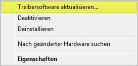 Windows 7 - Treiber aktualisieren