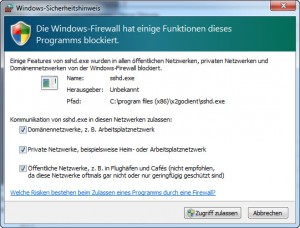 X2Go - SSHD - Windows Firewall