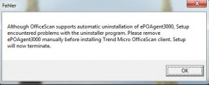 Trend Micro - McAfee Uninstall Fehler EPO3000