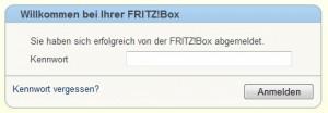 Fritzbox - Anmeldung