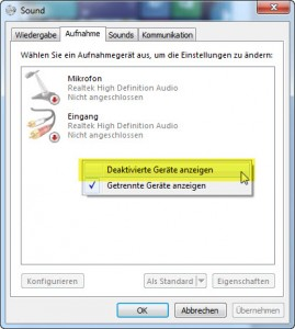 Windows 7 - deaktiviert Sound
