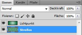 Adobe Photoshop - Streifen Ebenen