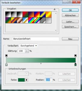 Adobe Photoshop - Verlaufswerkzeug