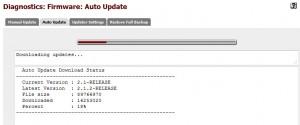 pfSense - Auto Update Running