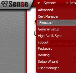 pfSense - System - Firmware