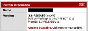 pfSense - System Information Update