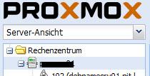 Proxmox - Rechenzentrum - Server-Ansicht