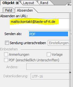 Adobe LiveCycle Designer - Schaltfläche Mail senden