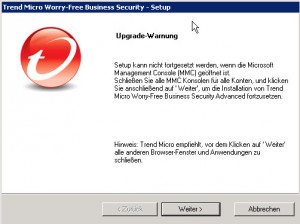 Trend Micro Worry-Free Upgrade Info