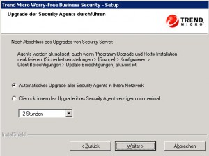 Trend Micro Worry-Free Agents Upgrade