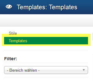 Joomla 3 - Templates Option Template