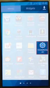 Samsung Menü Einstellungen