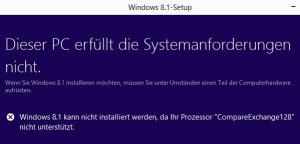 Windows 8 Fehler beim Update