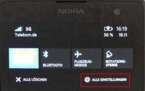Windows Phone Alle Einstellungen