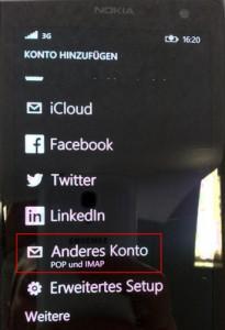 Windows Phone - Mailkonto