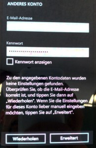 Windows Phone E-Mail erweitert