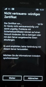 Windows Phone - SSL Zertifikat