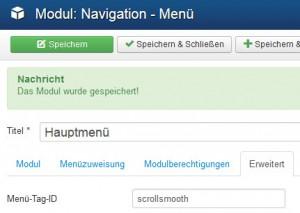 Joomla 3 - Modul Menu Tag ID