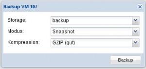 Proxmox KVM Backup