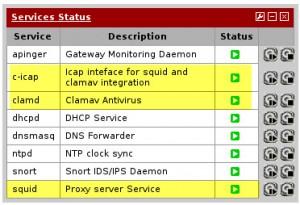 pfSense - Services Status