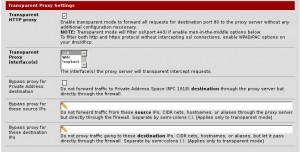 pfSense Squid Transparent Proxy Settings