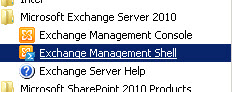 SBS2011 Exchange Management Shell