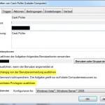 Windows7 Aufgabenplanung Cacti Rechte