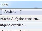 Windows7 Aufgabenplanung erstellen