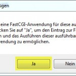 Windows7 IIS Modul akzeptieren