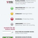 McAfee SiteAdvisor Indikatoren