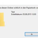 Windows 10 Dialog löschen