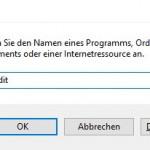 Windows10 Regedit ausführen